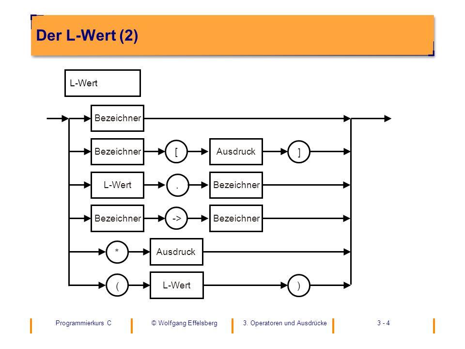 Der L-Wert (2) L-Wert ( [ * ) Bezeichner ] Ausdruck . ->